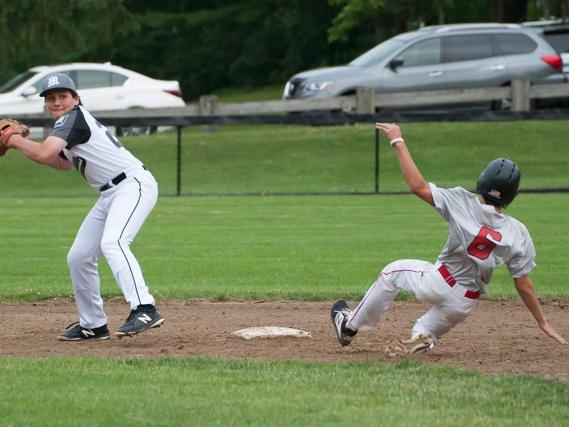 Cooper Buess and the Post 79 Junior Legion squad dropped a 10-2 decision to Hamden in a State Tournament Regional game at Bethel High School on July 30. File photo by Kelley Fryer/The Source