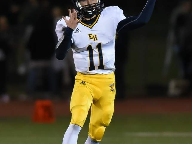 Quarterback Tanner DiVito and the East Haven football team will kick off the 2019 season with a road game versus Foran on Friday, Sept. 13. File photo by Kelley Fryer/The Courier
