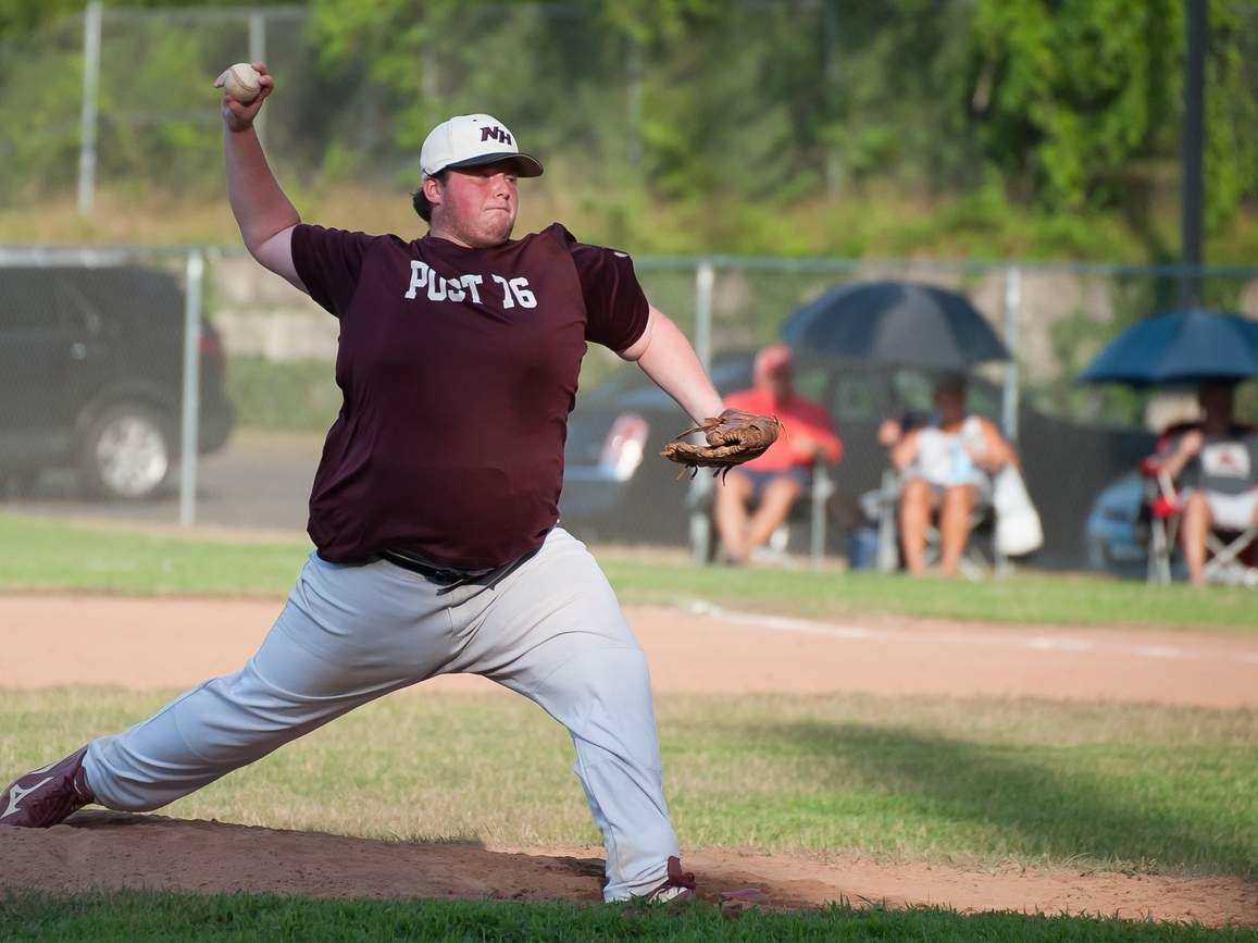 Daniel Meyers picked up two wins on the mound for the Post 76 Seniors in the Dan Riccio Memorial Tournament, including a no-hitter during North Haven's 1-0 victory versus the Connecticut Crush. File photo by Kelley Fryer/The Courier