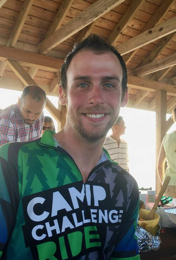 Justin Hoffman, a 2010 North Haven High School alum, recently completed a nearly 3,600 mile bicycle trip across the U.S. to raise funds for the Hole in the Wall Gang Camp.  Photo by Aviva Luria/The Courier