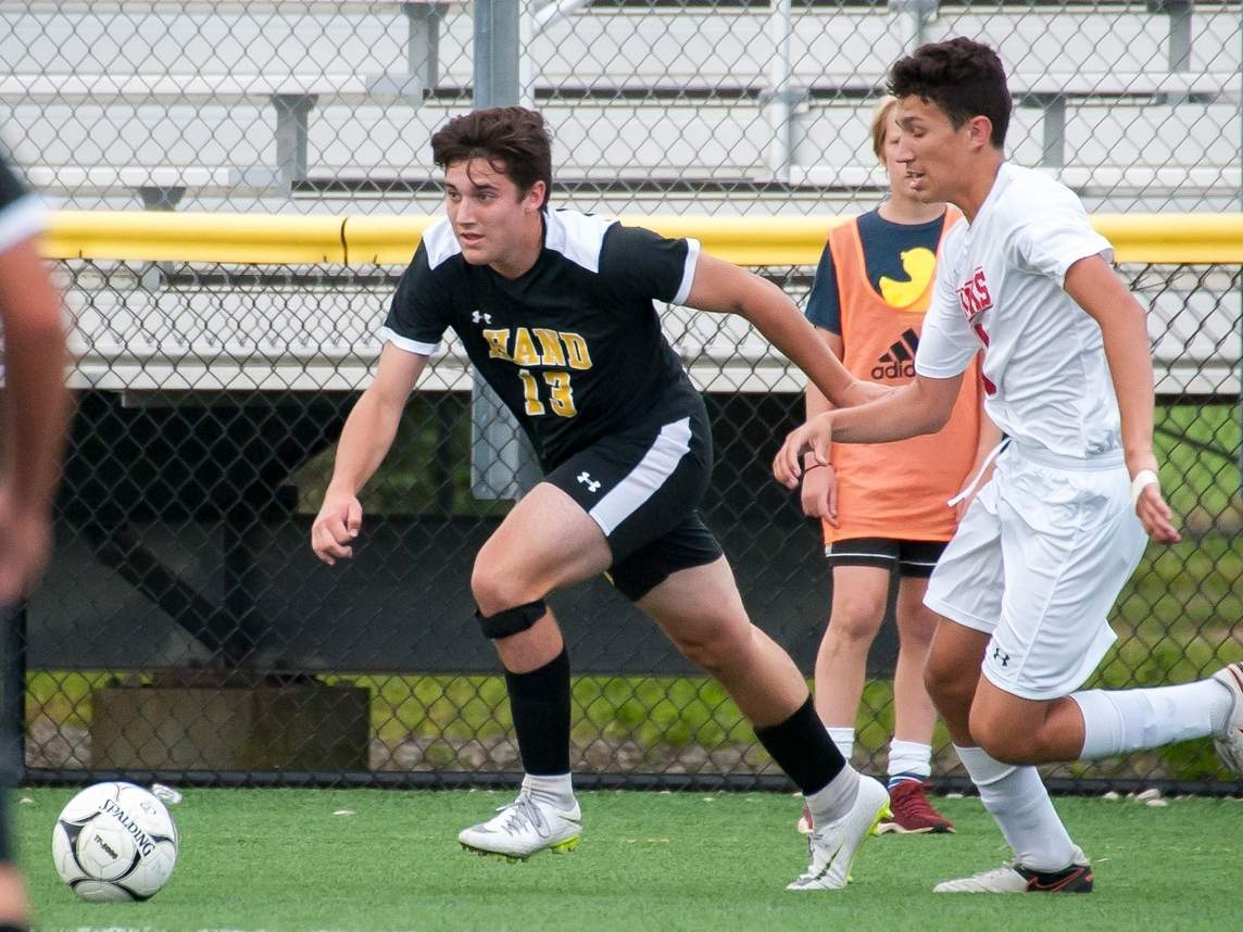 Ethan Coe and the Hand boys' soccer squad will begin the 2019 season with a road tilt versus rival Guilford on Saturday, Sept. 14. File photo by Kelley Fryer/The Source