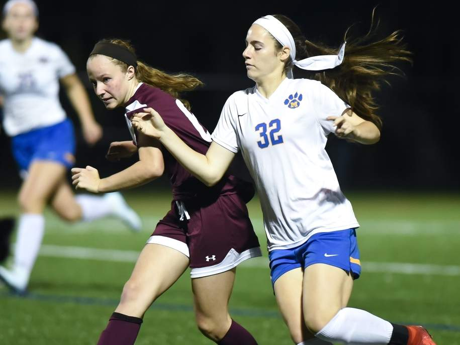 Megan Russo and the North Haven girls' soccer team are taking on Cheshire in a home game in their 2019 season opener on Thursday, Sept. 12. File photo by Kelley Fryer/The Courier