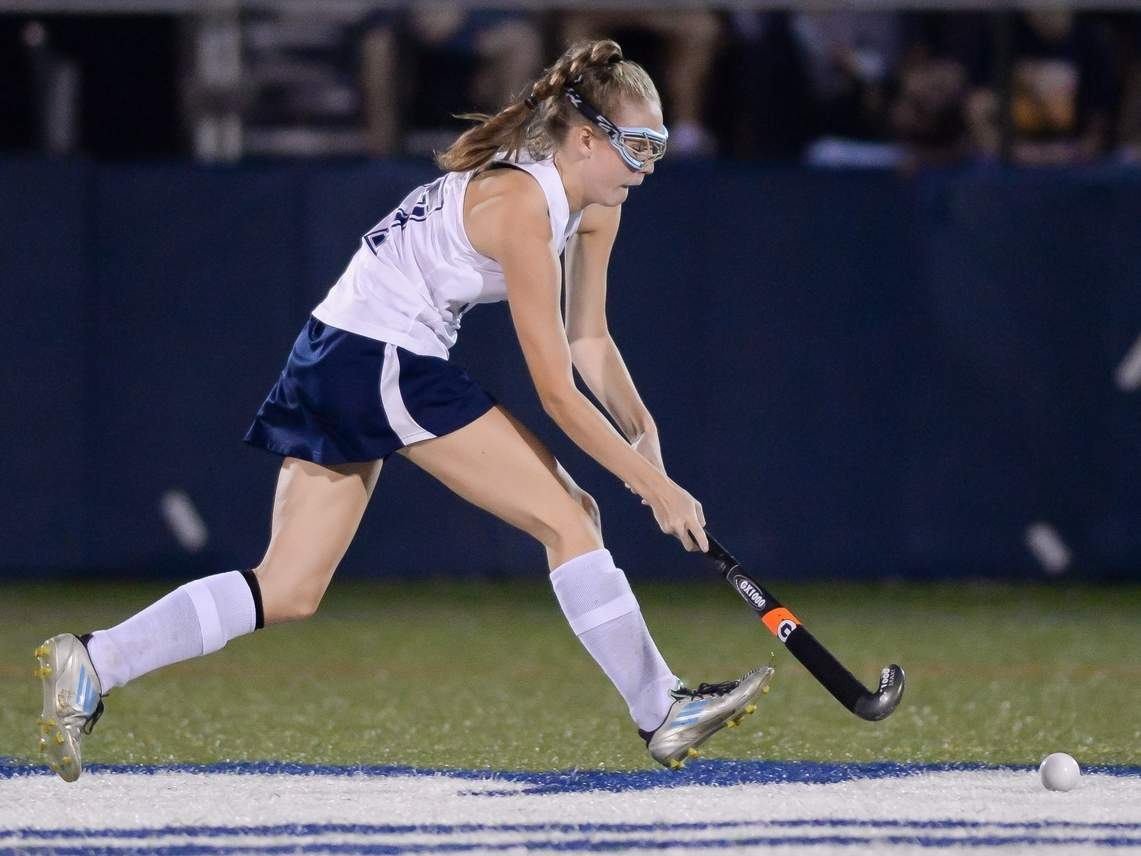Aryn McQuarrie and the Morgan field hockey squad are hosting Shoreline Conference rival Haddam-Killingworth in their 2019 season opener. File photo by Kelley Fryer/Harbor News