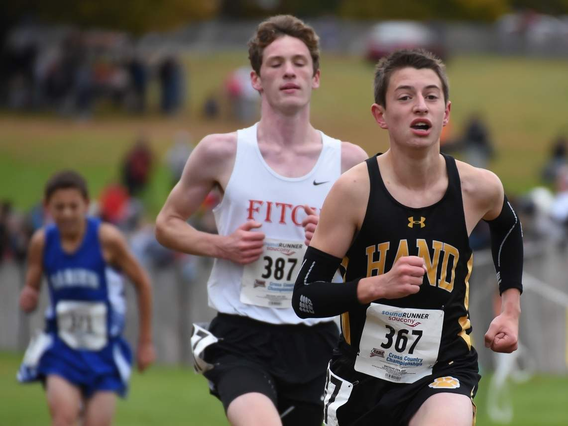 Dante Zucconi and the Hand boys' cross country squad will run at the Windham Invitational on Saturday, Sept. 7. File photo by Kelley Fryer/The Source