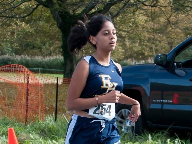 Riya Patel and the East Haven girls' cross country squad are hosting Career for their regular-season finale at the high school on Monday, Oct. 7. Photo by Kelley Fryer/The Courier
