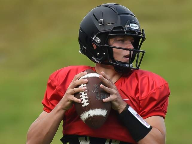 Junior captain quarterback Jack Cox will be taking the bulk of the snaps for the Valley Regional-Old Lyme football team this year. Photo by Kelley Fryer/The Courier