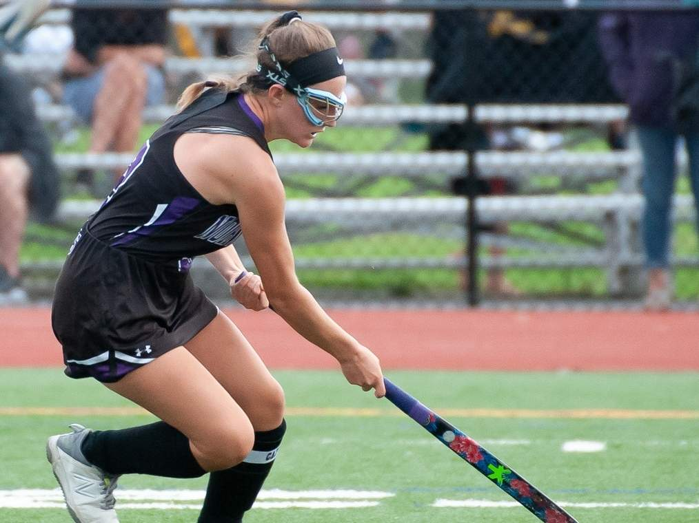 Senior captain Ava Galdenzi and the North Branford field hockey squad posted road shutouts versus Old Saybrook and Watertown to begin their season. Photo by Kelley Fryer/The Sound