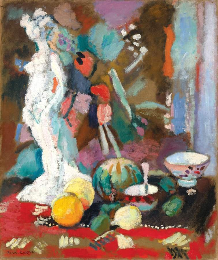 Henri Matisse, Nature morte à la statuette (Still Life with Plaster Figure), 1906. Oil on canvas. Yale University Art Gallery, Bequest of Kate L.