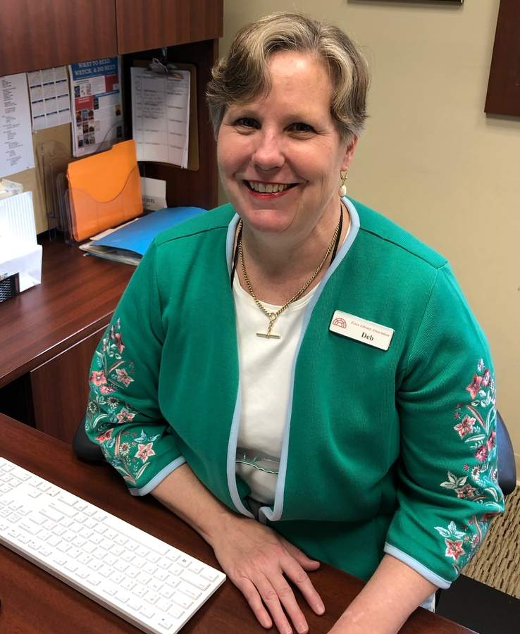 Deb Smith joined the Essex Library as executive director in July and has since immersed herself in the library and the community. Photo by Rita Christopher/The Courier