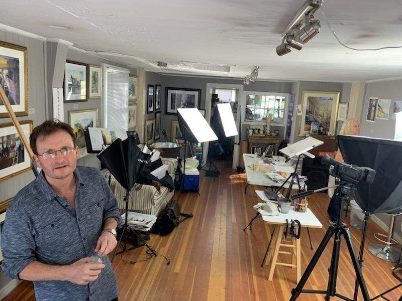 Artist Alan James was recently filmed for an episode of Put Some Colour in your Life in his studio. Photo courtesy of Alan James