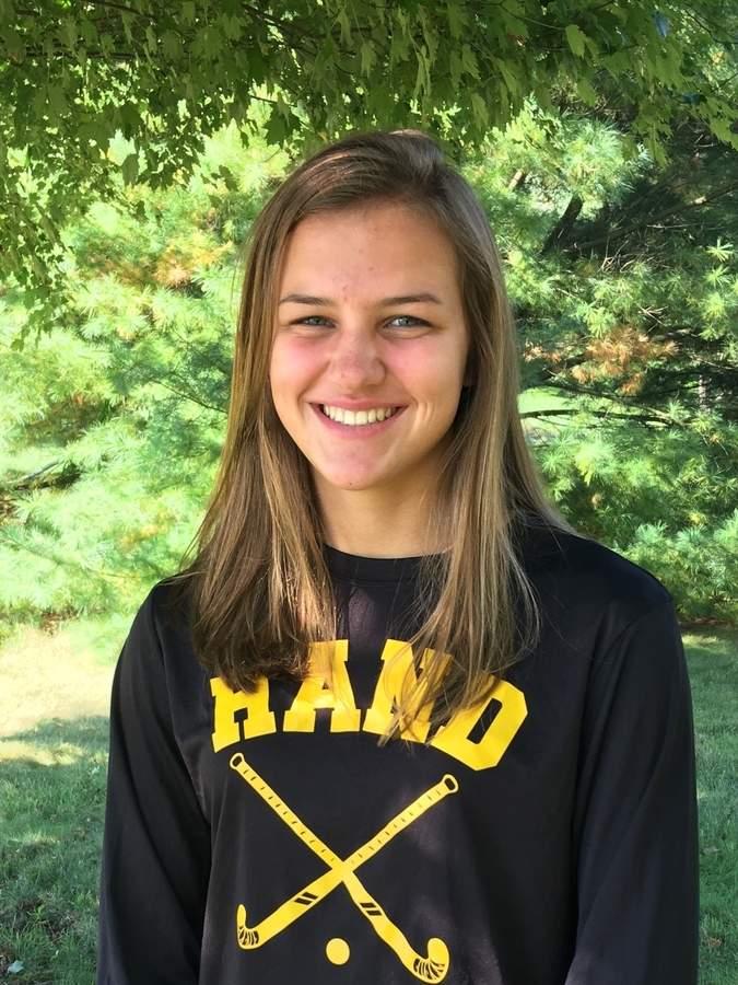 Jacqui Sandor is leading the Hand field hockey squad as a senior captain this fall and will hit the ice for the Tigers this winter. Photo courtesy of Jacqui Sandor