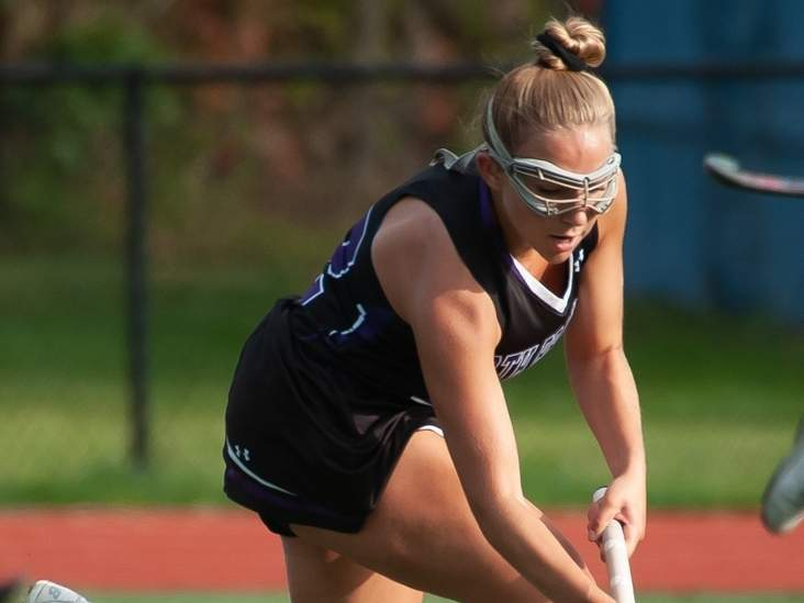 Senior Bianca D'Onofrio and the North Branford field hockey squad continued their winning ways by defeating Westbrook and Haddam-Killingworth last week. The T-Birds are 8-0 with a state tourney berth already in the bag. File photo by Kelley Fryer/The Sound