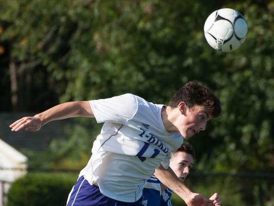Junior captain Andrew Sellitto is looked upon to be the glue that bands the North Branford boys' soccer squad together. Sellitto's play-making ability on the pitch makes him a huge asset for Head Coach Dewey Boatman's club. File photo by Kelley Fryer/The Sound