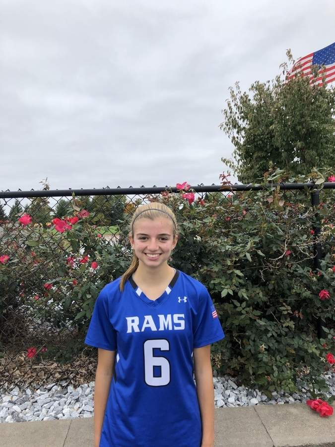 Taylor Stone is in the middle of her junior campaign as an attacker on the Old Saybrook field hockey team. Taylor also plays basketball and competes in crew for the Rams.  Photo courtesy of Taylor Stone