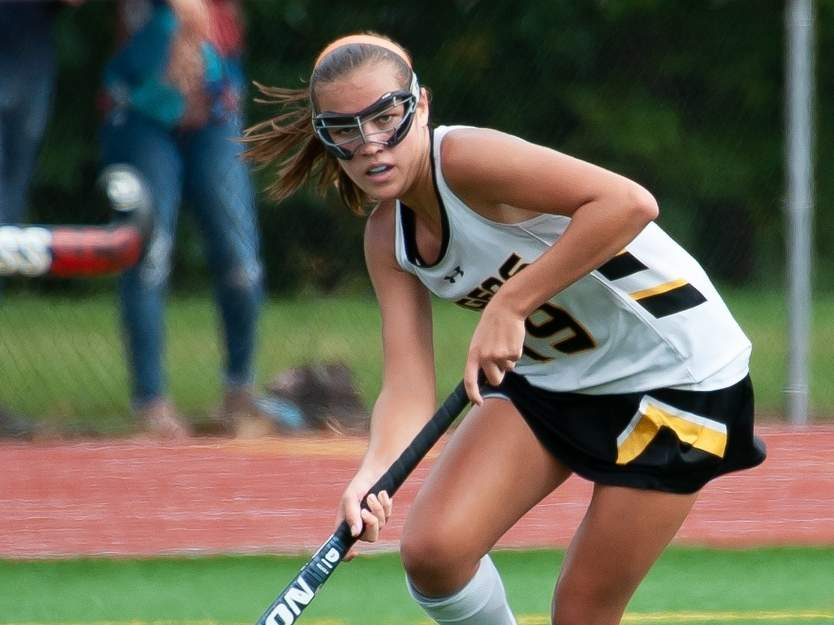 Jacqui Sandor scored two goals in the penalty stroke session to help the Hand field hockey squad defeat Cheshire in the quarterfinals of the SCC Tournament on Nov. 1. File photo by Kelley Fryer/The Source