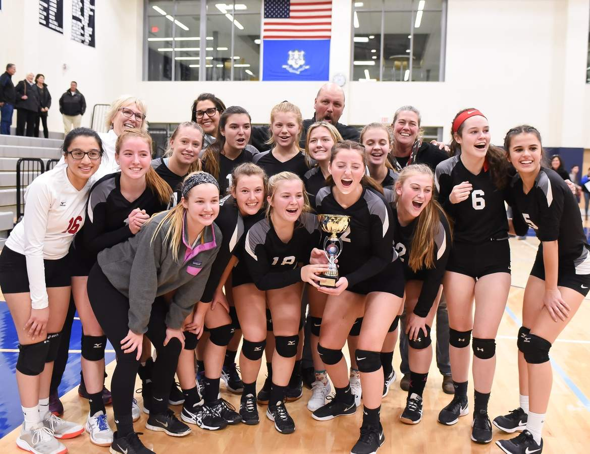 Valley Regional Volleyball won the Shoreline Conference Championship beating Hale - Ray at Morgan High School. Photo by Kelley Fryer/The Courier