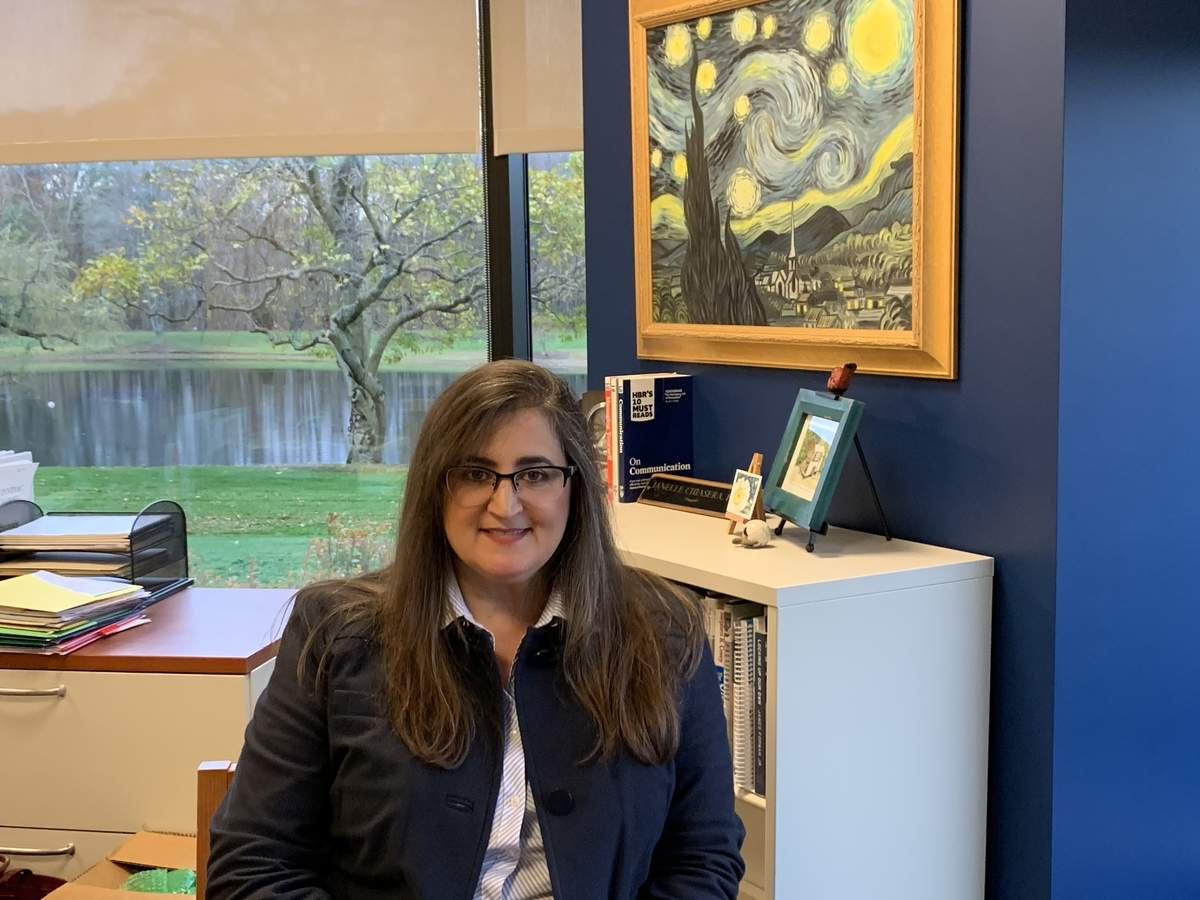 Janelle Chiasera hit the ground running as new dean of the School of Health Sciences at Quinnipiac University last month. Photo by Lisa Consorte