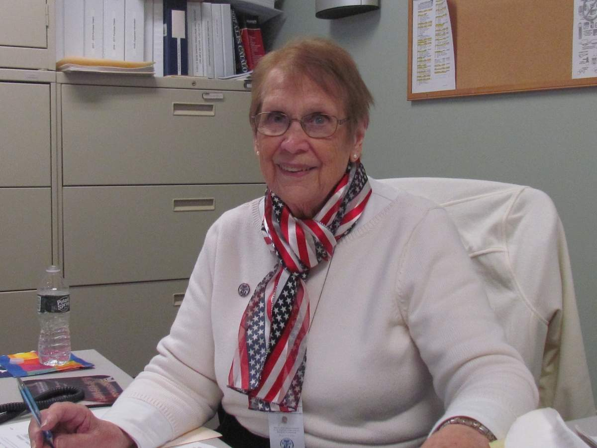 After serving as Branford's Republican Registrar of Voters for 37 years, Marion Burkard officially stepped down as of June 30, 2019. Photo by Pam Johnson/The Sound