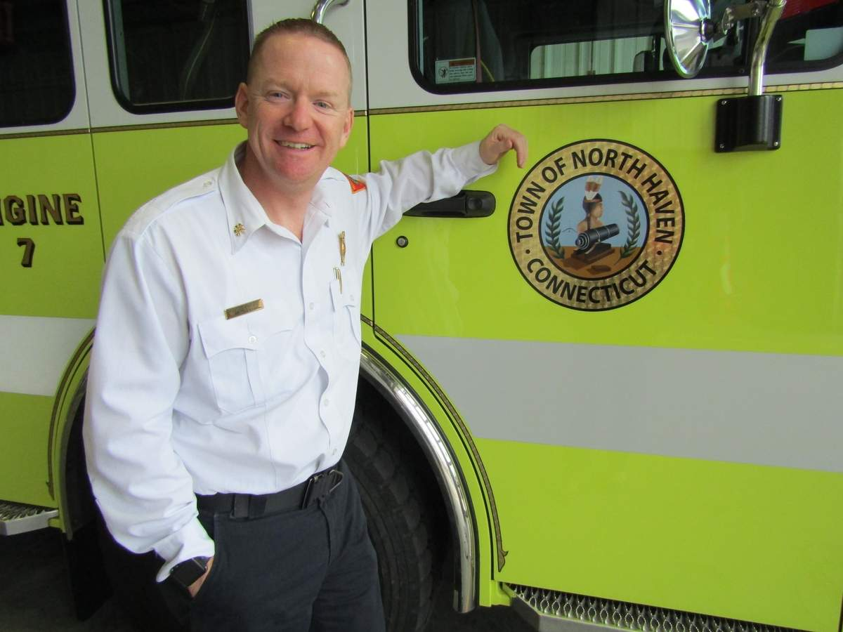 Scott Martus has been North Haven's deputy fire chief of operations since 2017.  Photo by Elizbeth Reinhart/The Courier