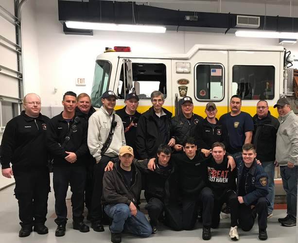 On Dec. 9, members of Branford's Indian Neck-Pine Orchard Fire Co. 9 gathered for a homecoming celebration as the company moved in to its brand-new firehouse facility, built on the site of the former firehouse at 6 Linden Ave.   Pam Johnson/The Sound