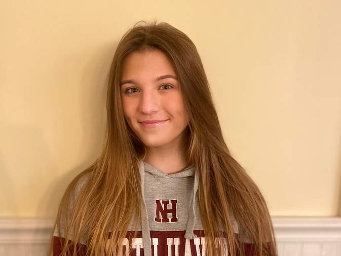 Senior captain Katie Ryan made a selfless transition to the center back position this fall to help the North Haven girls' soccer squad secure a spot in the Class L State Tournament. Photo courtesy of Katie Ryan