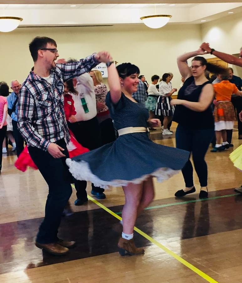 A square dance class and dance will be offered at the Acton Library in Old Saybrook. Photo courtesy of the Acton Public Library