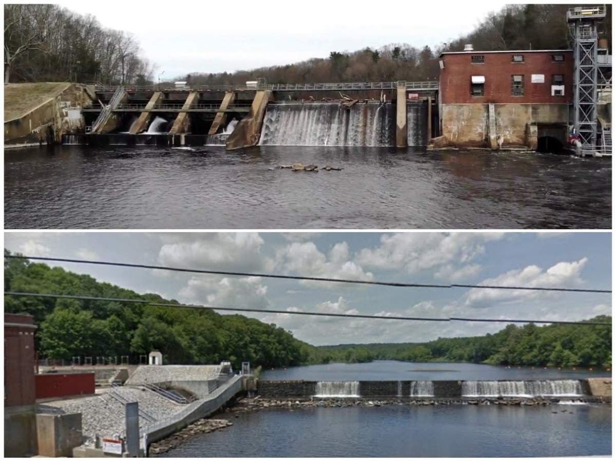 Between Scotland dam to the north and the Norwich Occum dam down river to the south, there is excellent broodstock Atlantic salmon fishing in the Shetucket River with catches potentially exceeding 20 pounds. Photo illustration courtesy of Captain Morgan