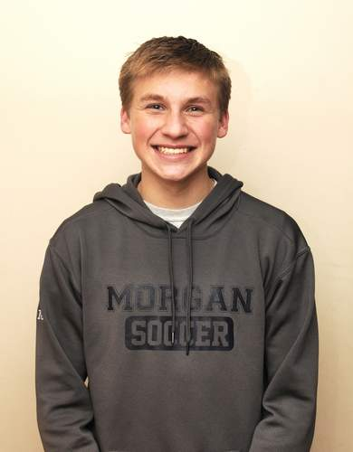 After making the varsity team as a freshman, Tyler Mucha had a solid sophomore season while playing both defense and the midfield for the Morgan boys' soccer squad last fall. Photo courtesy of Tyler Mucha