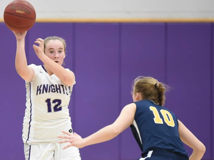Sophomore guard Sadie Susie and the Westbrook girls' basketball team scored two wins last week by earning with victories over Achievement First and Hale-Ray. File photo by Kelley Fryer/Harbor News