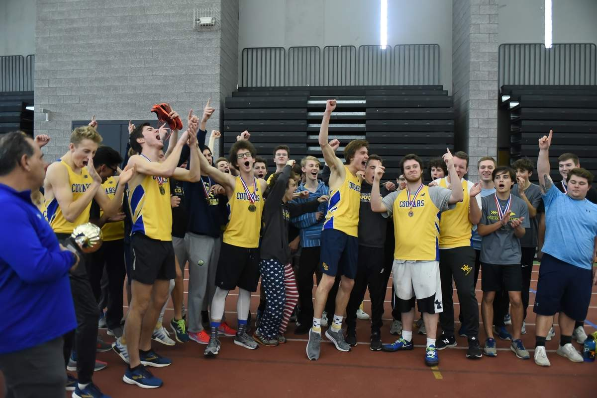 Haddam Killingworth Boys won the Shoreline Conference Indoor Track Championship and the girls came in second.  Photo by Kelley Fryer/The Source