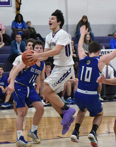 Junior captain Jack Naccarato and the Westbrook boys' basketball squad picked up victories against Portland and Hale-Ray last week to climb within one win of qualifying for the Class S State Tournament. Naccarato scored 72 points between the two victories. File photo by Kelley Fryer/Harbor News
