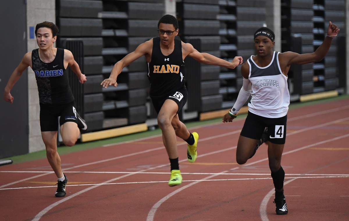 Daniel Hand boys came in 3rd and the girls came in 9th at the CIAC Class L Indoor Championship Track and Field Meet at Floyd Little Athletic Center.  Joshua Stewart  Photo by Kelley Fryer/The Source