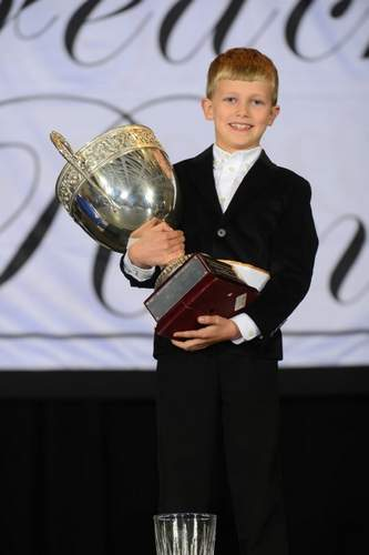 Nathan Belknap of Old Saybrook won the regional title in the boys' U-8 division on behalf of the Gray School of Irish Dance at the New England Oireachtas. Photo courtesy of Tom Gregory/Shamrock Photography