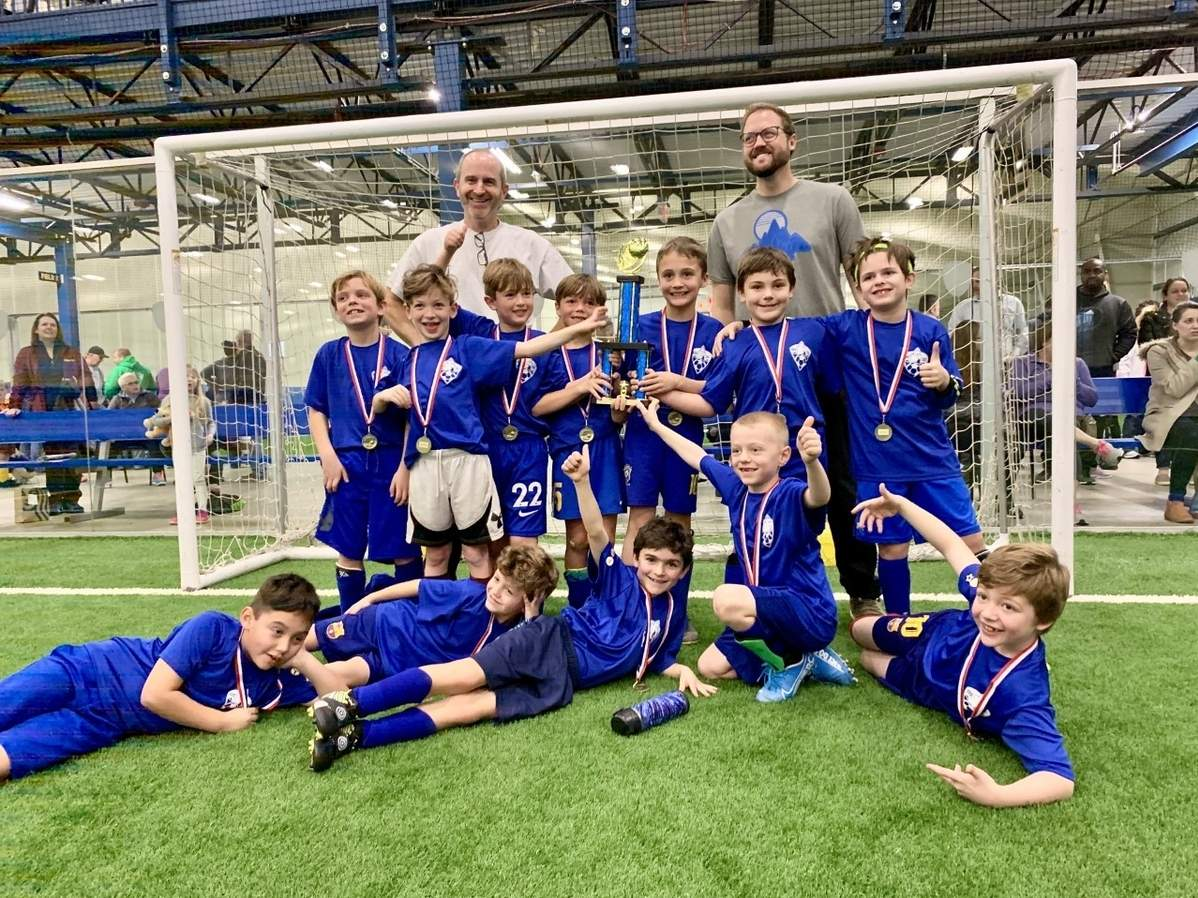 The Old Saybrook 9-U boys' indoor soccer squad claimed the Session One Indoor Soccer Championship, going undefeated on its way to taking the title. Photo courtesy of Matt Bordonaro