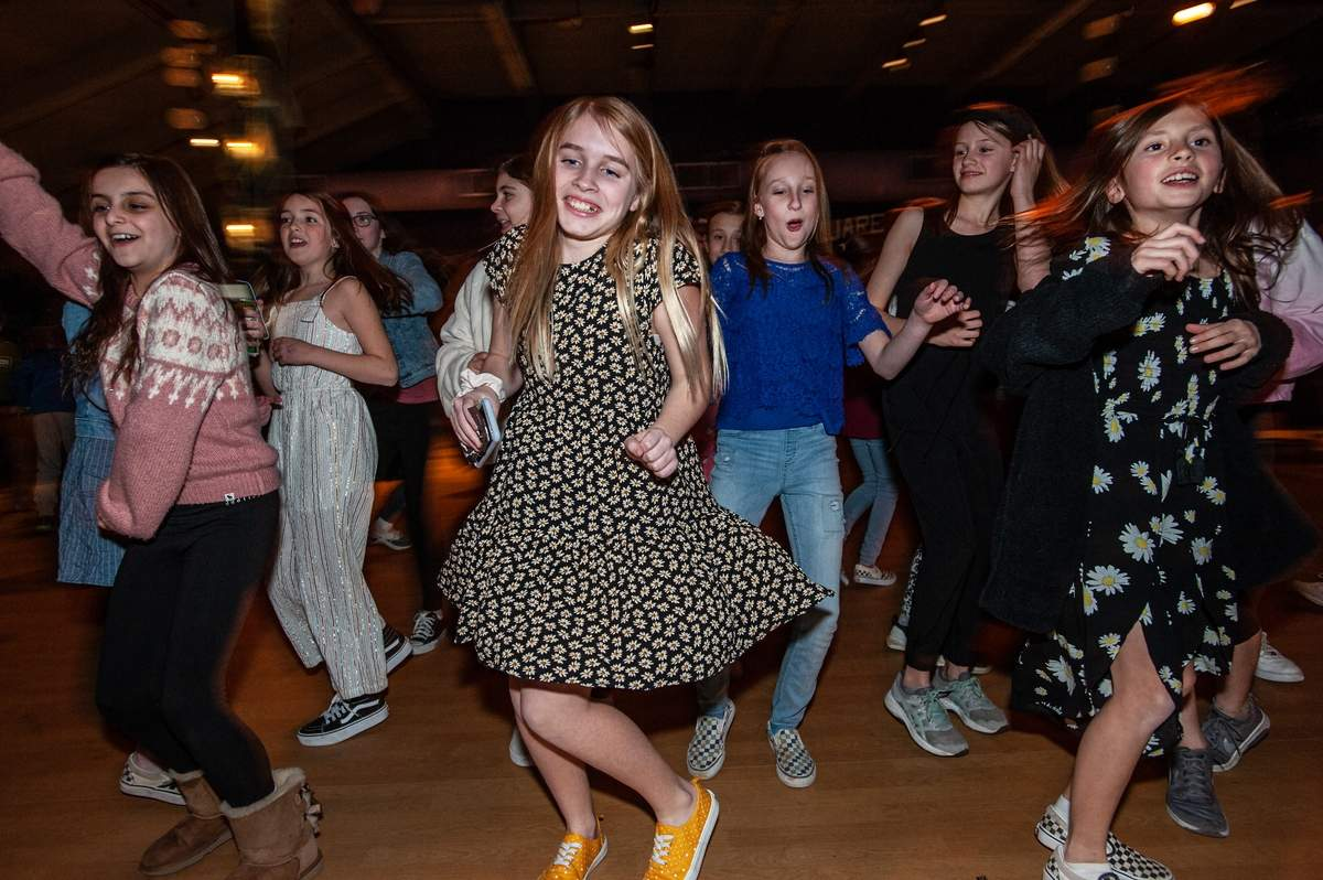 The Madison Arts Barn held a Fifth Grade Night at the Barn Friday February 21st. The night included games, music from DJ Bry, activities and a fun night out with friends.  Neala O'Dea busts a move.    Photo by Susan Lambert/The Source