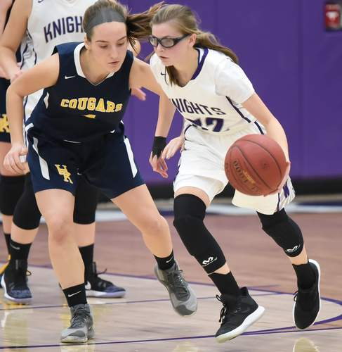 Sophomore Alex Zanzalari and the Westbrook girls' basketball team are headed to the Class S State Tournament this week and open play with a road contest against Wolcott Tech at Kaynor Technical School on Friday, March 6 at 6:30 p.m. File photo by Kelley Fryer/Harbor News
