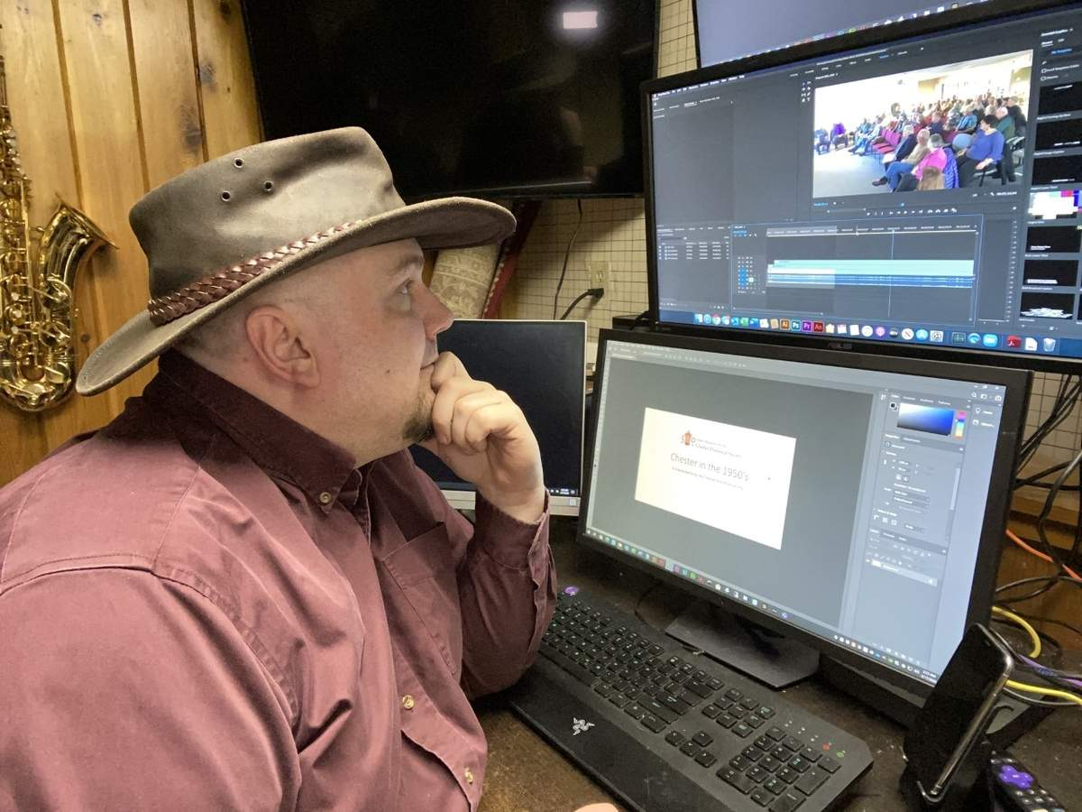 The work-from-home revolution (and just generally function-from-home revolution) is familiar territory for Jon Claude Haines, a Chester tech specialist who's sharing his expertise to help local organizations stay connected. Photo courtesy of Jon Claude Haines
