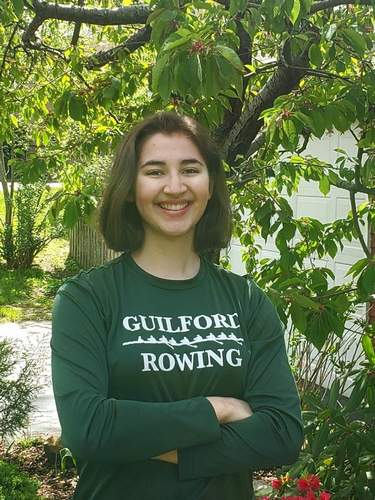 Senior captain Charlotte Wiley has seen a great deal of success while rowing crew for both Guilford High School and the Blood Street Sculls in Old Lyme. Charlotte will continue her crew career at the University of Central Florida. Photo courtesy of Charlotte Wiley