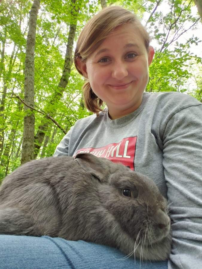 A self-described introvert, Georgia Male has made many friends, human and otherwise, in her role as farm manager and camp counselor at the Bushy Hill Nature Center. Photo courtesy of Georgia Male