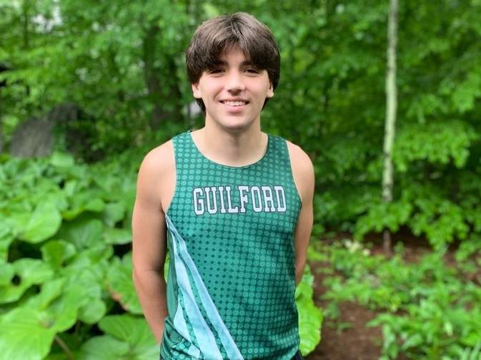 McKendry Eschinger enjoyed a great career on both the track and the trails as a runner at Guilford High School.  Photo courtesy of McKendry Eschinger