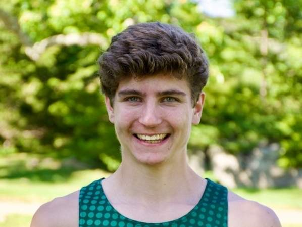 Guilford High School Class of 2020 valedictorian Ben Crair recently received 2020 John J. Fontana Scholarship from the Connecticut High School Coaches Association based on his achievements in both athletics and academics. Photo courtesy of David Crair