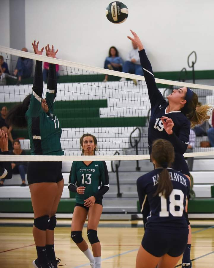 East Haven lost 0-3 to Guilford at Guilford High School. Eliza Goldberg  (19) Photo by Kelley Fryer/The Courier