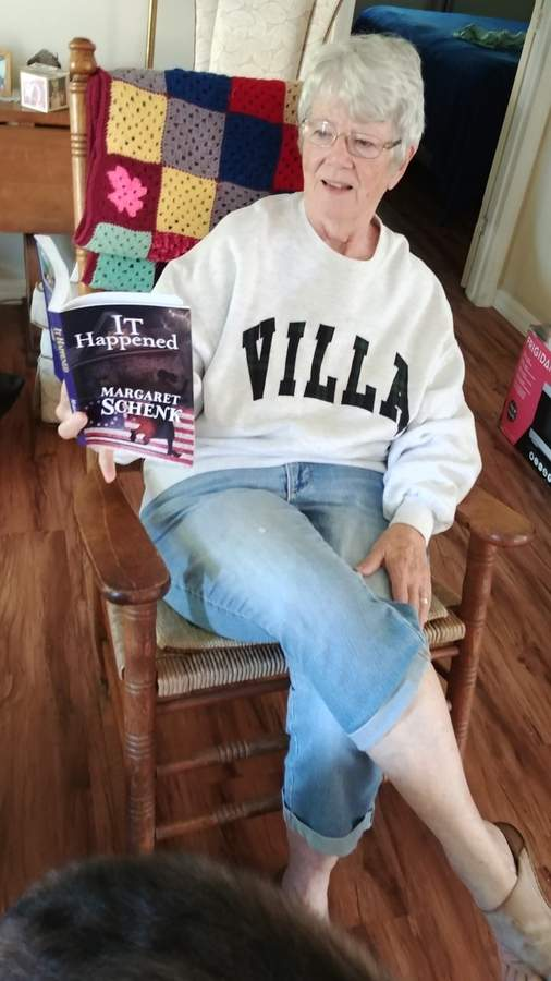 Breaking from a career of telling others' stories, retired journalist Peggy Schenk recently wrapped up her own tale, a work of historical fiction titled It Happened.   Photo courtesy of Peggy Schenk