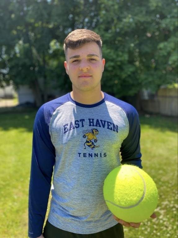 Matt Gaudioso quickly rose to the top of the pack as the No. 1 singles player on the East Haven boys' tennis team in his freshman season last spring. Photo courtesy of Matt Gaudioso