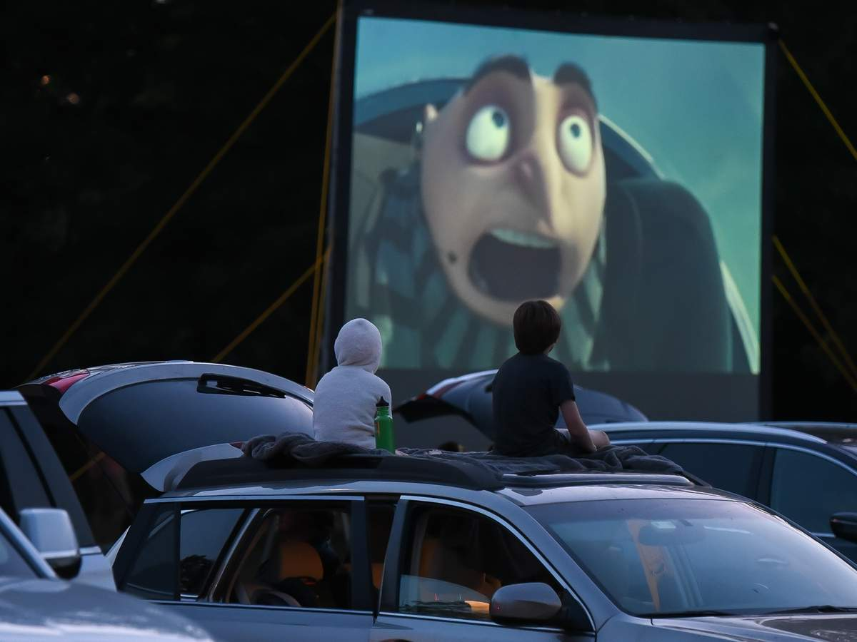Madison Beach and Recreation held a free drive-in movie night at the Surf Club Friday evening, showing