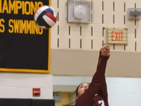 Alexandra Ferriouolo and the North Haven volleyball squad are on the road to face Shelton for their 2020 season opener. File photo by Kelley Fryer/The Courier