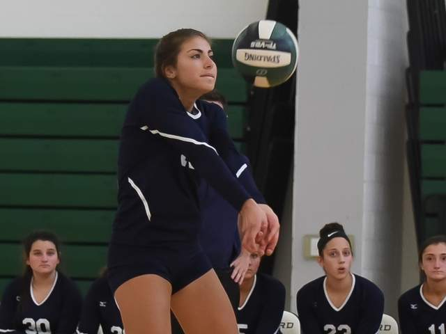 Tori Heaphy and the East Haven volleyball team will take on crosstown rival for their first matchup of the 2020 season. File photo by Kelley Fryer/The Courier