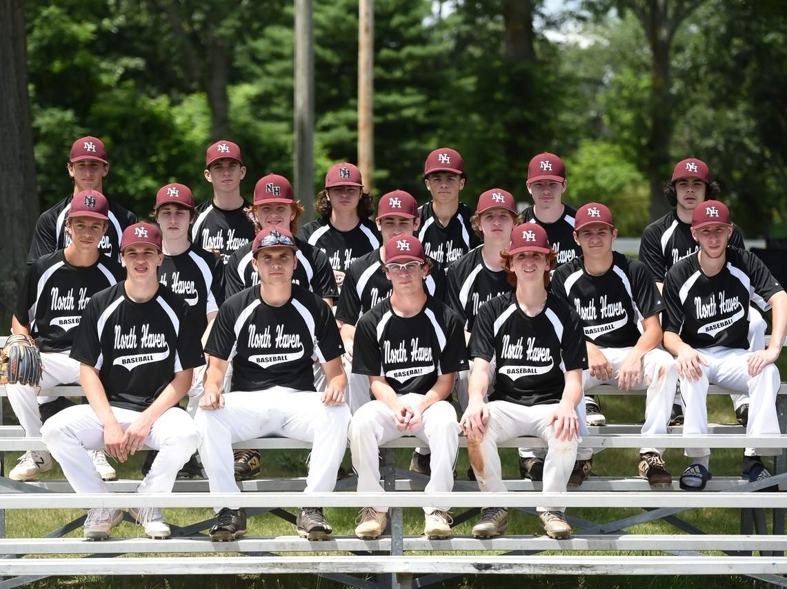 The North Haven U-19 baseball team is competing in the Connecticut Elite Baseball Association this summer. The team is being led by Mike Busillo, a former assistant coach for Bob DeMayo at the high school. Photo by Kelley Fryer/The Courier