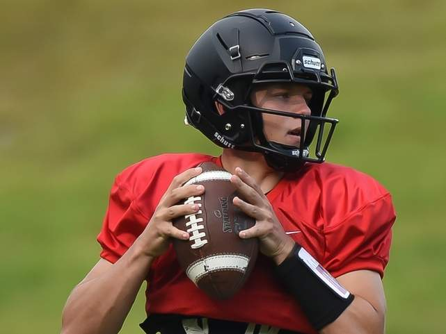 Jack Cox and the Warriors recently found out that they won't be playing football in the standard 11-on-11 format this year. File photo by Kelley Fryer/The Courier