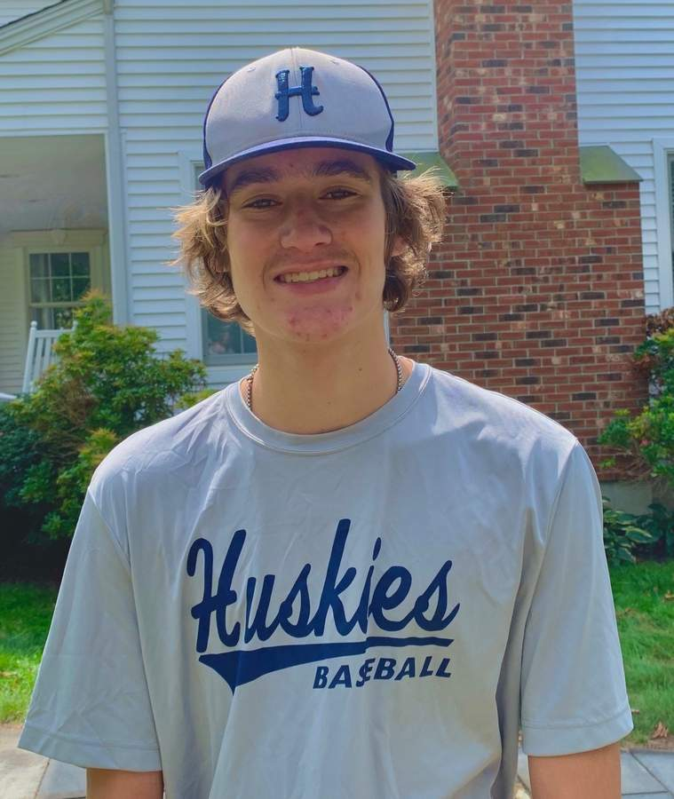 Lucas Kamoen enjoyed a solid summer on the mound for the Clinton Huskies. Lucas also plays high school baseball at Haddam-Killingworth. Photo courtesy of Lucas Kamoen